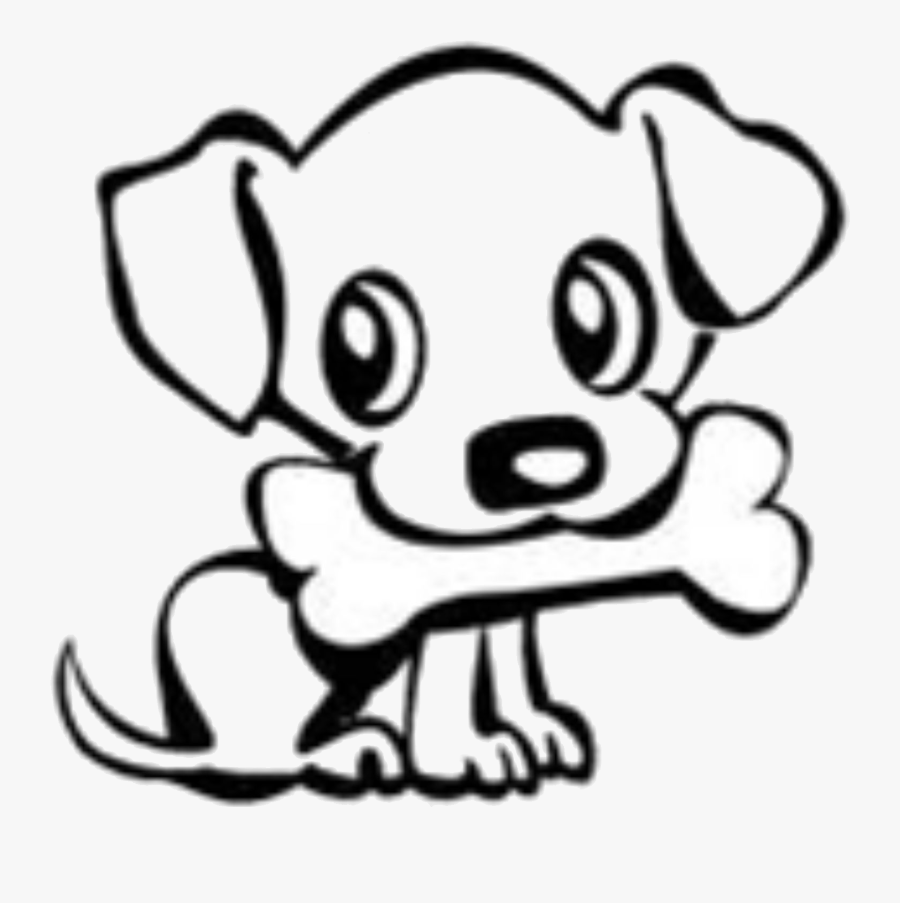 Dog Bone Drawings Group Banner Download - Cute Easy Dog Drawing, Transparent Clipart