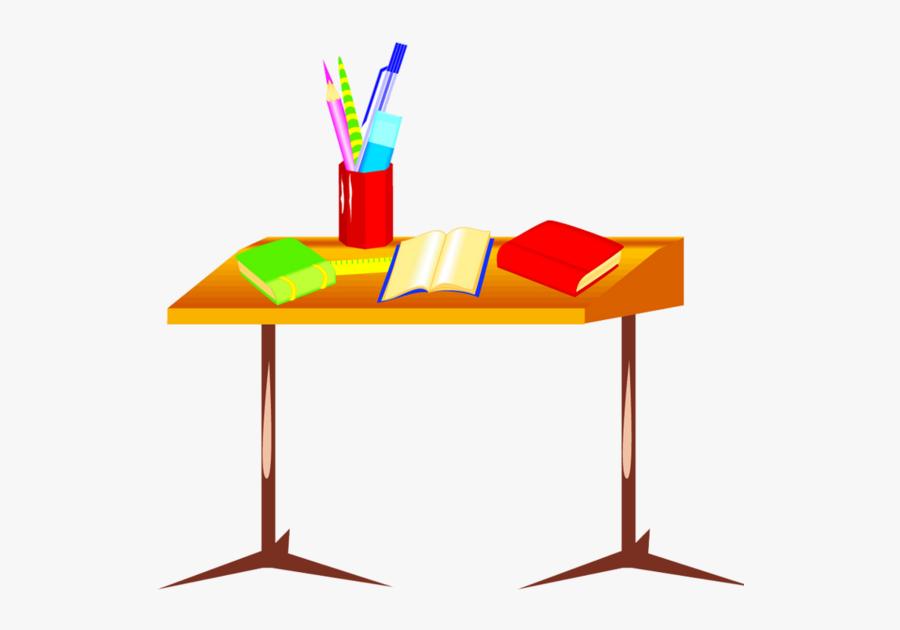 Desk At School Cartoon Clipart School Desk Clip Art - Pens On Desk Clipart, Transparent Clipart