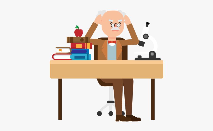 Desk Clipart Tidy Desk - Professor Desk Cartoon, Transparent Clipart