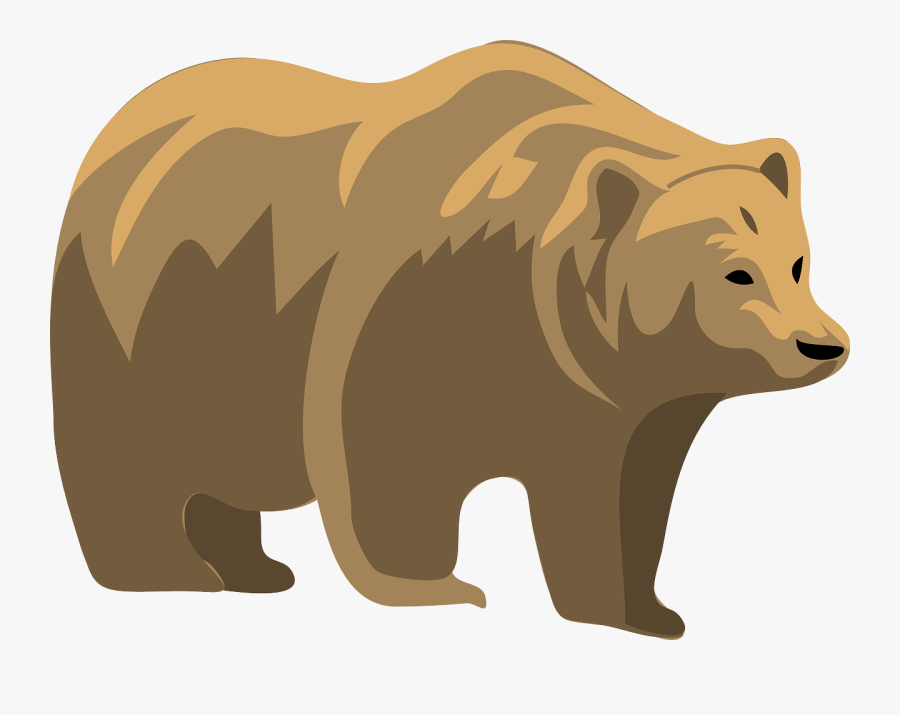 Brown Bear, Brown Bear, What Do You See Clip Art - Grizzly Bear Clipart, Transparent Clipart