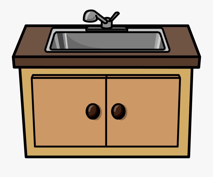 Kitchen Cabinet Clipart - Kitchen Sink Clipart, Transparent Clipart