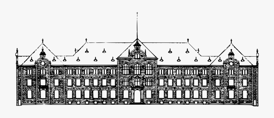 Building,visual Arts,facade - College Building Transparent, Transparent Clipart