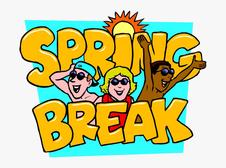 Spring Break Cartoon Fun, Transparent Clipart
