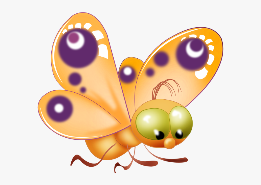 Butterfly Cliparts Png Cartoon - Transparent Background Clip Art For Butterfly, Transparent Clipart