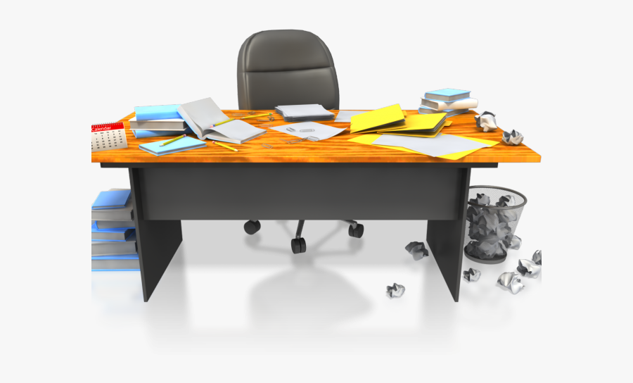 Messy Desk Clipart - Transparent Messy Desk Png, Transparent Clipart