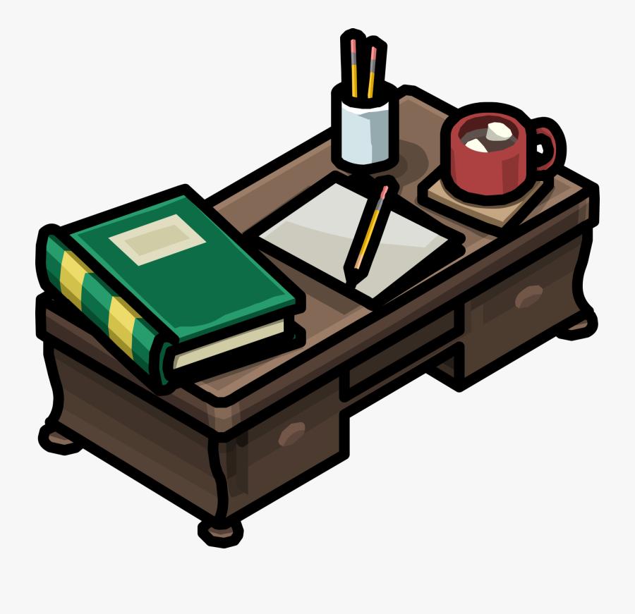 Teacher Desk Club Penguin Clipart , Png Download - Clubpenguin Desk, Transparent Clipart