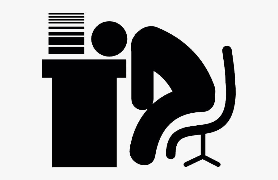 Sleeping At Desk Icon, Transparent Clipart