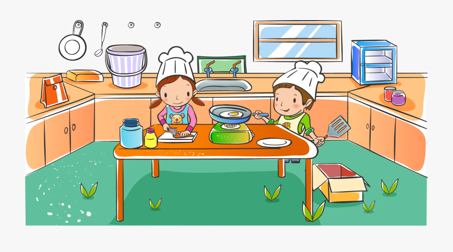 Child School Drawing Clip Art - Kitchen Child Drawing, Transparent Clipart