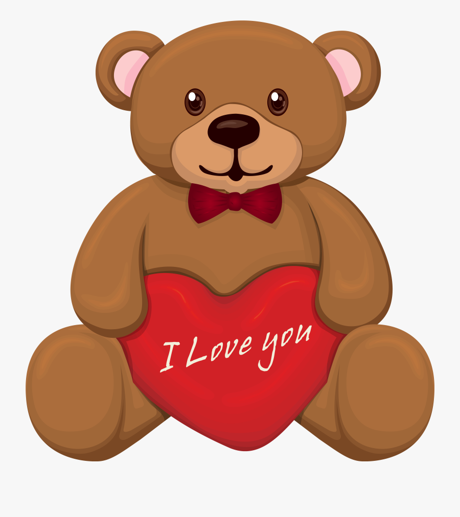 """Cute Valentine""""s Day Teddy Png Clipart Image - Cute Valentines Day Clipart, Transparent Clipart"""
