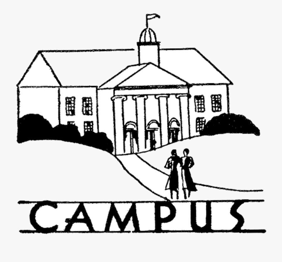 College Vintage Campus Image The Graphics Fairy Clipart - College Black And White Clipart, Transparent Clipart