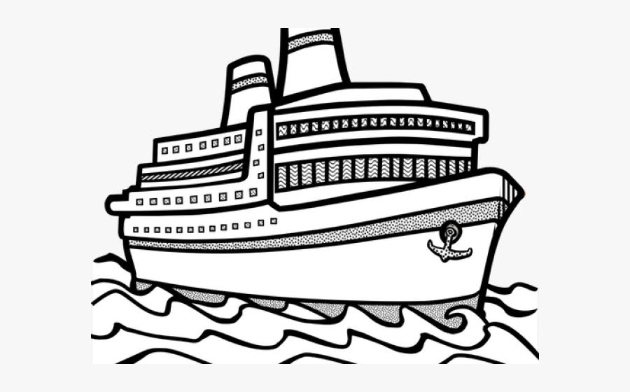 Clip Art Ship Clip Art Black And White - Ship Clipart Black And White, Transparent Clipart