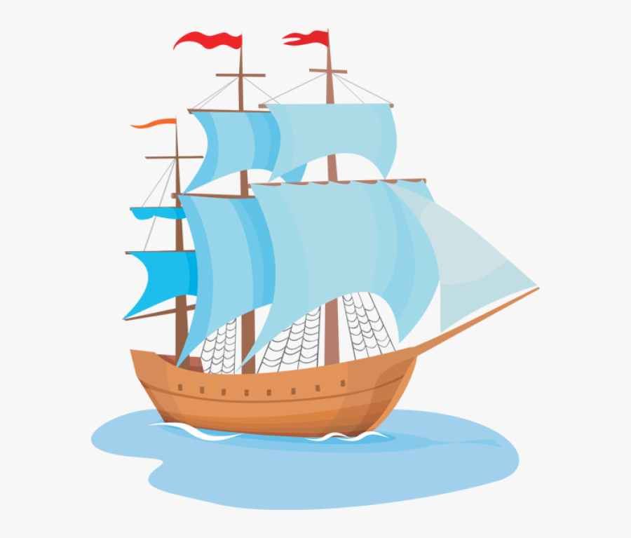 Explorer Clipart Wooden Ship - Sailing Ship Clipart, Transparent Clipart
