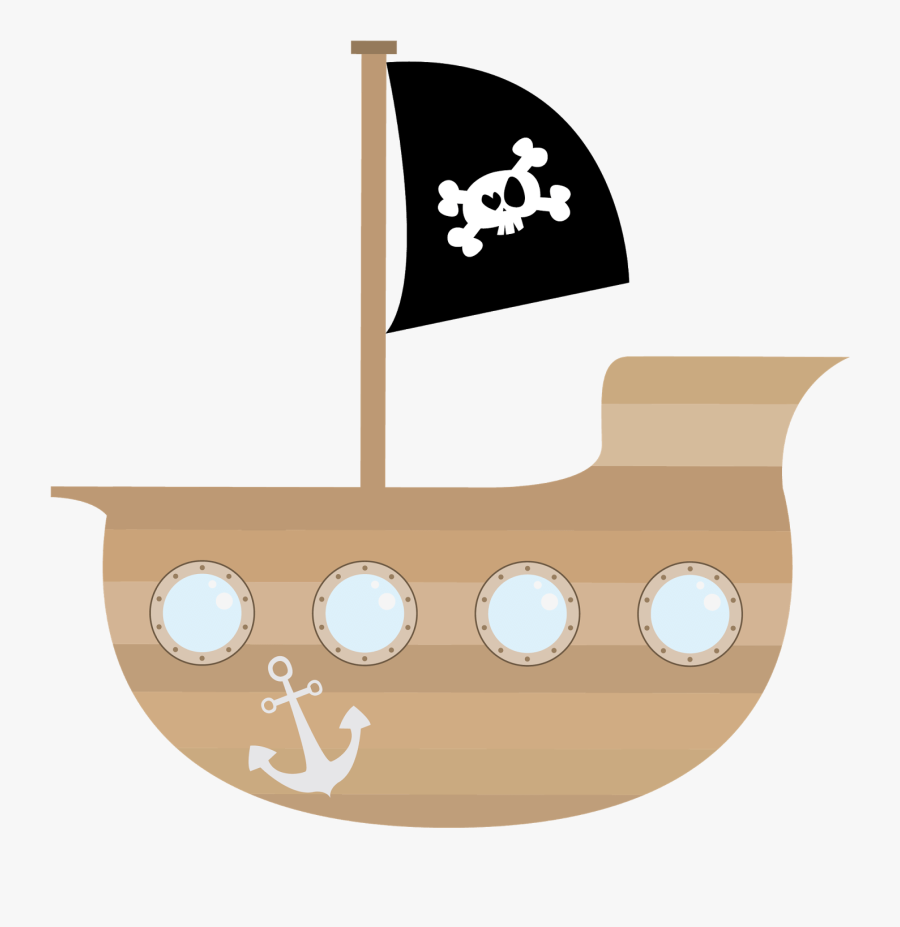 Pirate Ship Clipart Png , Png Download - Cute Pirate Ship Clipart, Transparent Clipart