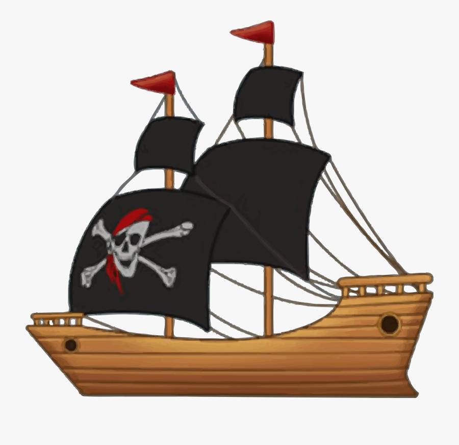 Transparent Ship Clip Art - Pirate Ship Clip Art, Transparent Clipart