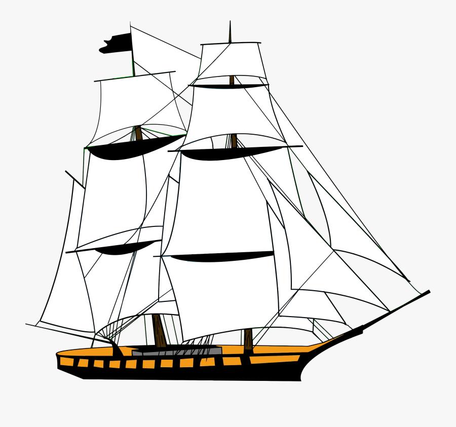 Sailing Ship White - Ship Clipart Transparent Background, Transparent Clipart