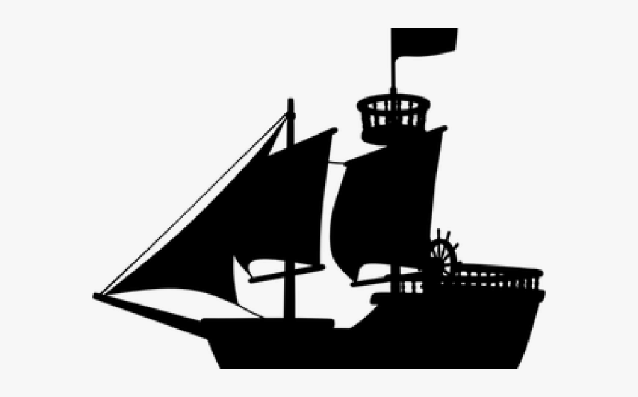 Cruise Ship Clipart Kapal - Pirate Ship Silhouette Transparent, Transparent Clipart