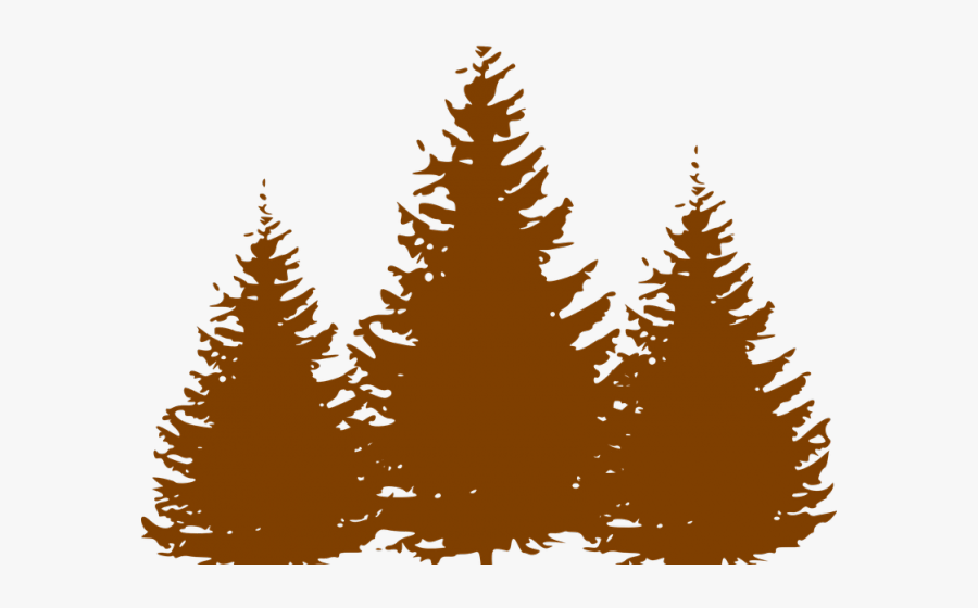 Pine Tree Clipart Group Tree - Clipart Pine Trees Black And White, Transparent Clipart