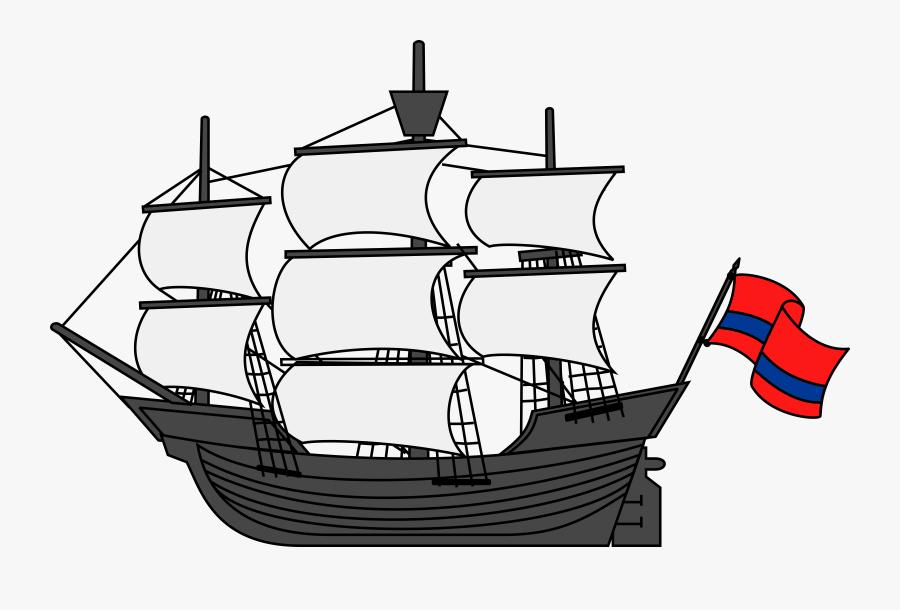 Sail Ship Clip Art, Transparent Clipart