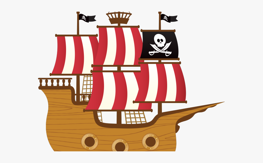 Pirate Ship Vector Png, Transparent Clipart