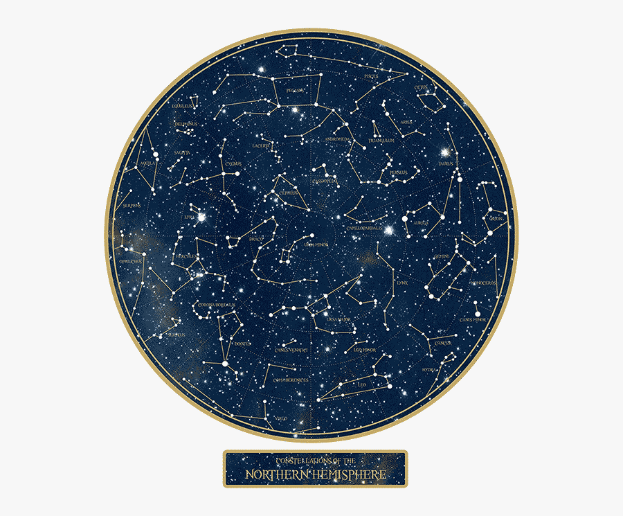 Constellation Night Sky Star Map Wall Decal Star Chart - Star Map August 2019, Transparent Clipart