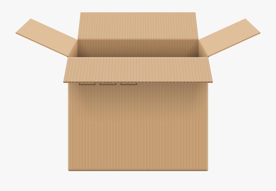 Cardboard Box Open Png Clip Art - Cardboard Box Open Png, Transparent Clipart
