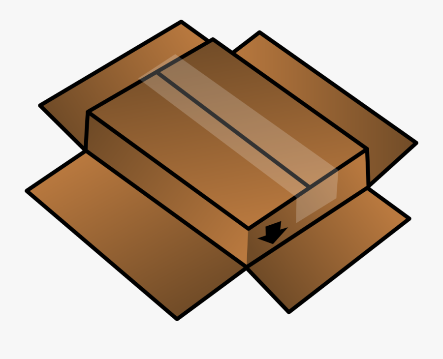 Cardboard Box Turned Around - Cardboard Clipart, Transparent Clipart