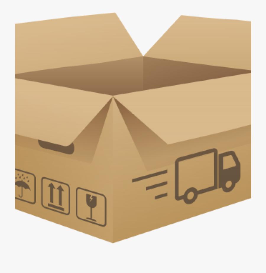 Transparent Box Top Clipart - Cardboard Box, Transparent Clipart