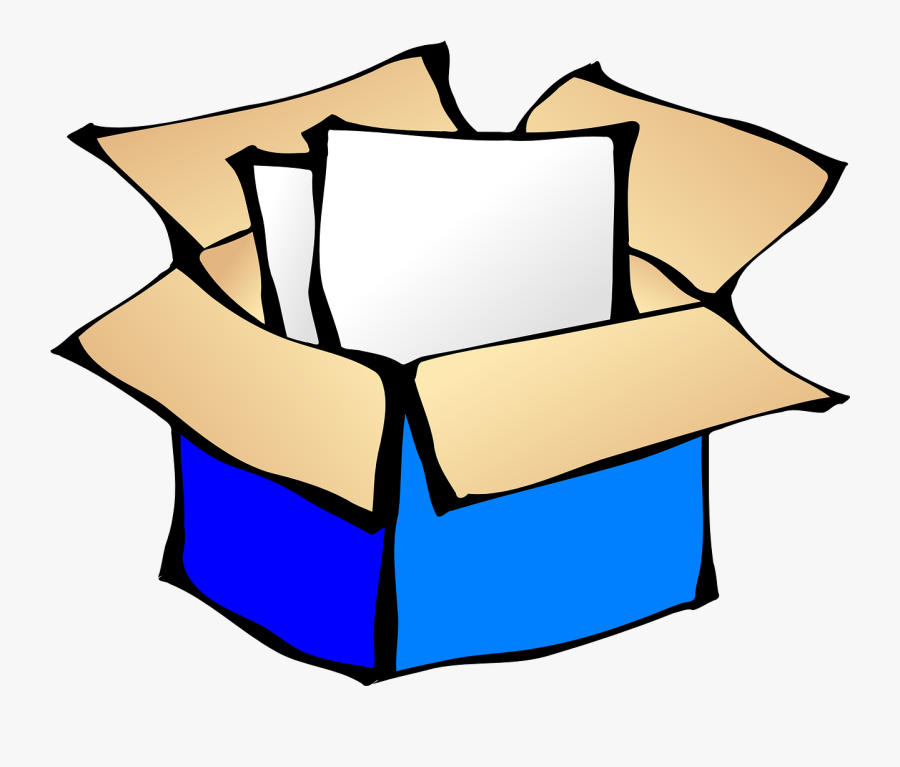 Cardboard Box, Open, Sheets, Box, Container, Package - Package Clip Art, Transparent Clipart