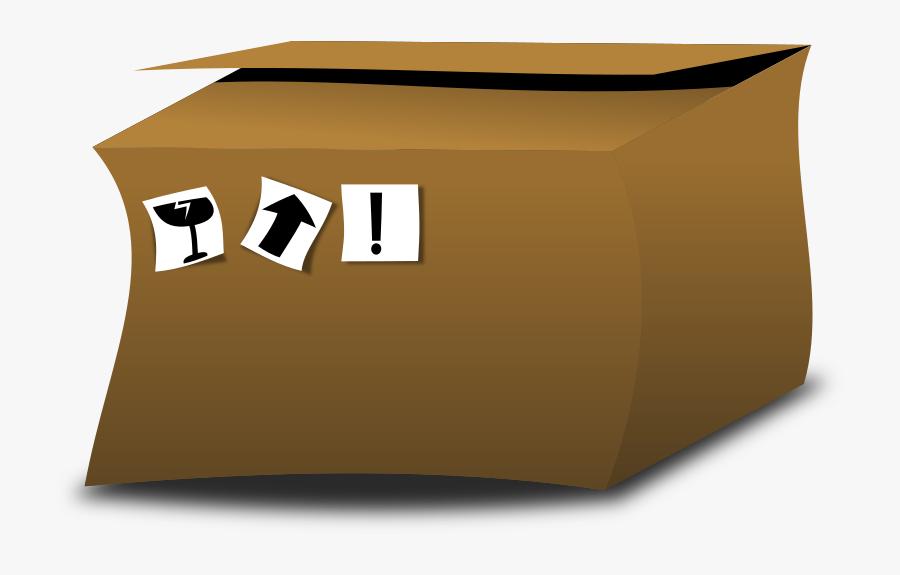 Cardboard Box - Cardboard, Transparent Clipart