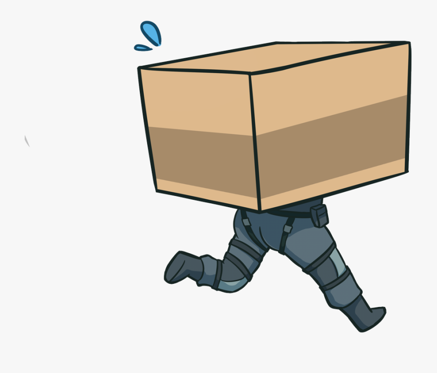 Mgs Cardboard Box Drawing, Transparent Clipart