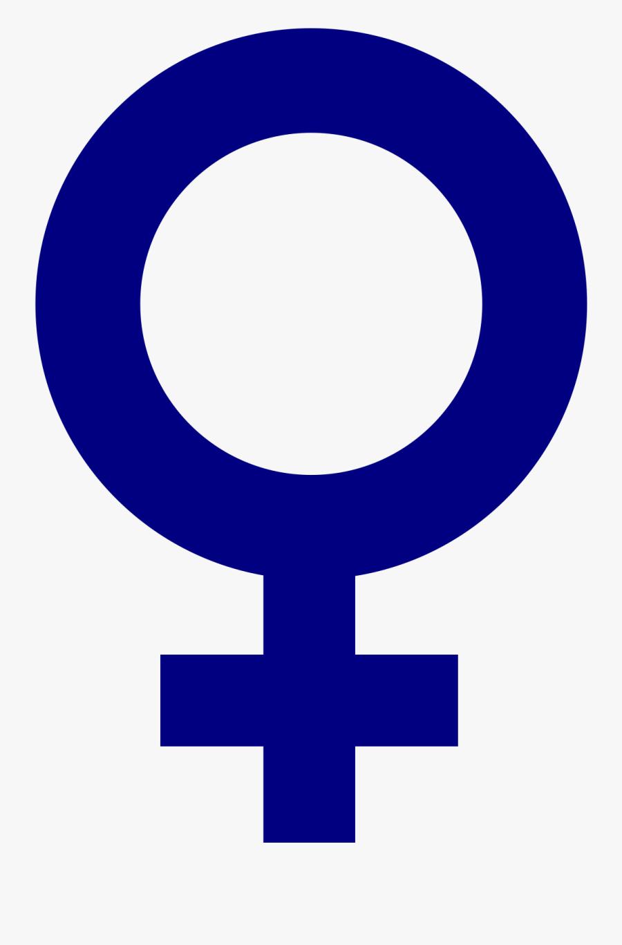 Area,text,symbol - Female Gender Symbol Small, Transparent Clipart