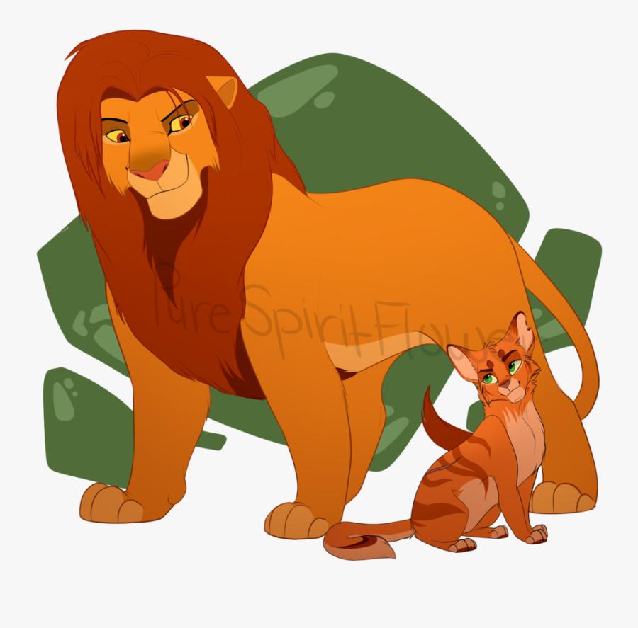 Warrior Clipart Lion - Warrior Cats The Lion King, Transparent Clipart