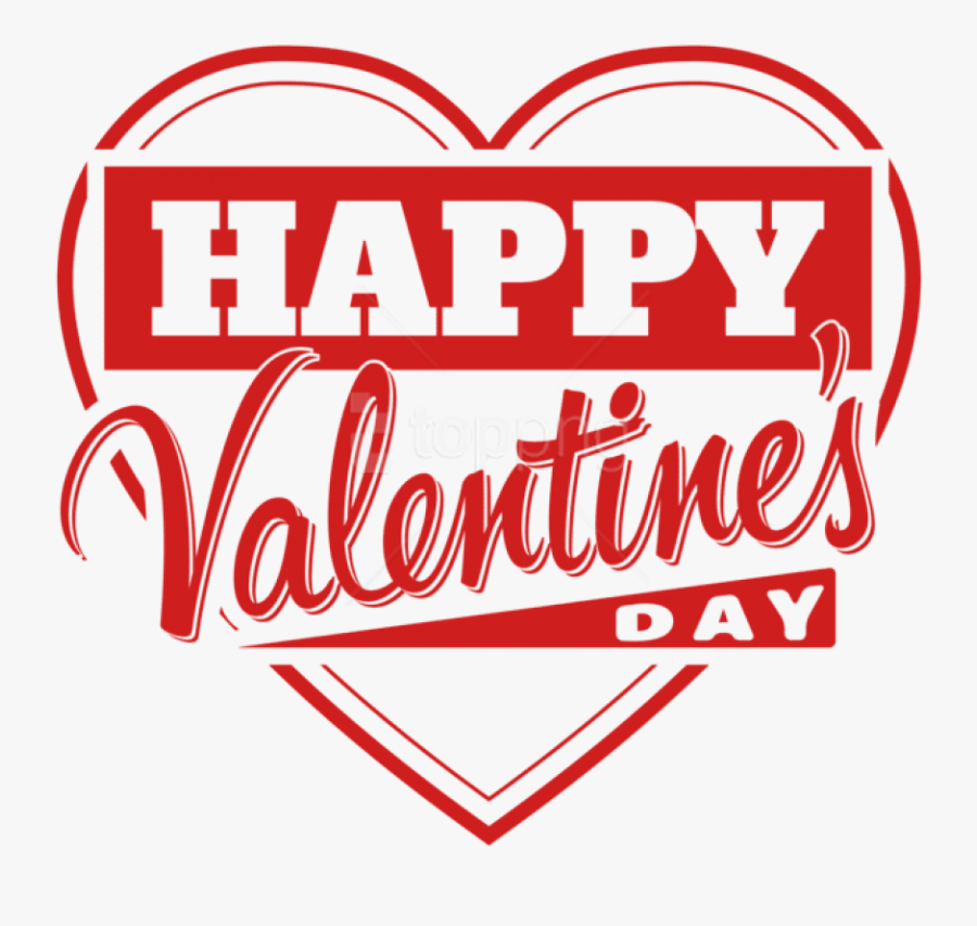"Free Png Download Happy Valentine""s Day Heart Transparent - Happy Valentine's Day Png, Transparent Clipart"