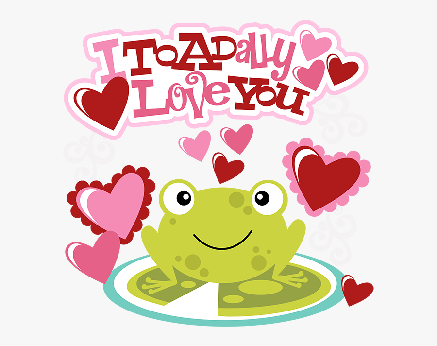 Toadally Love You, Transparent Clipart