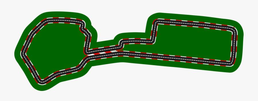 Transparent Race Track Finish Line Clipart - Azerbaijan Grand Prix Circuit 2018, Transparent Clipart