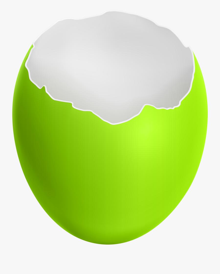 Broken Easter Egg Green Clip Art Image, Transparent Clipart
