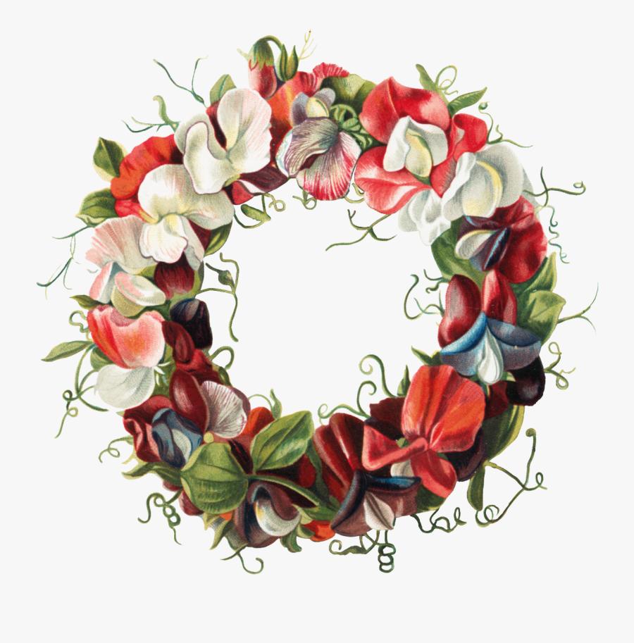 Artist Floral Design Canvas Print - Wreath, Transparent Clipart