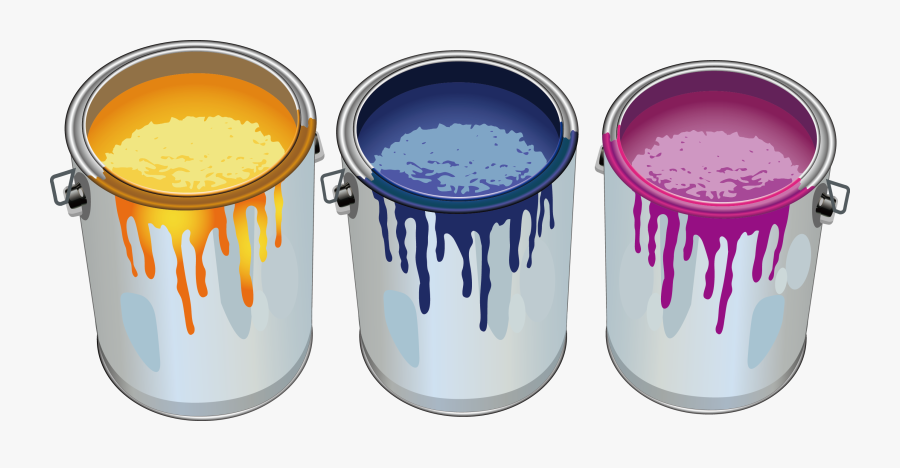 Paint Bucket Painting Cartoon Png Image High Quality - Paint Tins, Transparent Clipart
