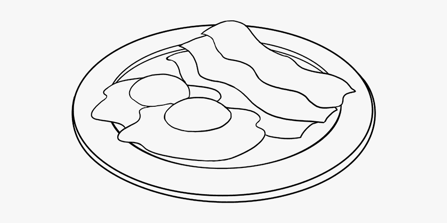 How To Draw Bacon And Eggs - Eggs And Bacon Drawing , Free ...