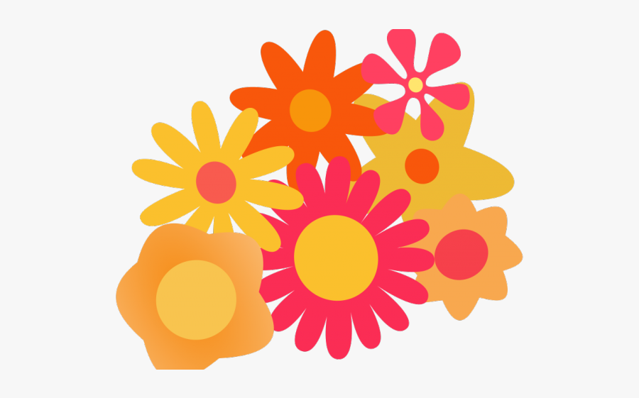 Orange Flower Clipart Summer Flower - Flowers Cartoon Images Png, Transparent Clipart