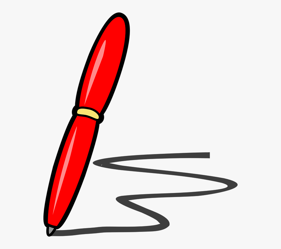 Pen, Ballpoint, Red, Isolated, Write, Sign, Writing - Red Pen Clip Art, Transparent Clipart