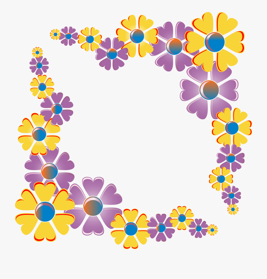 Flower Borders And Frames Clipart - Floral Frames And Border Design, Transparent Clipart