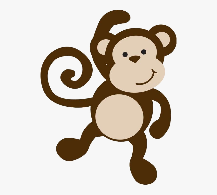 Monkey Baby Clipart Ba Silhouette At Getdrawings Free - Safari Baby Animals Png, Transparent Clipart