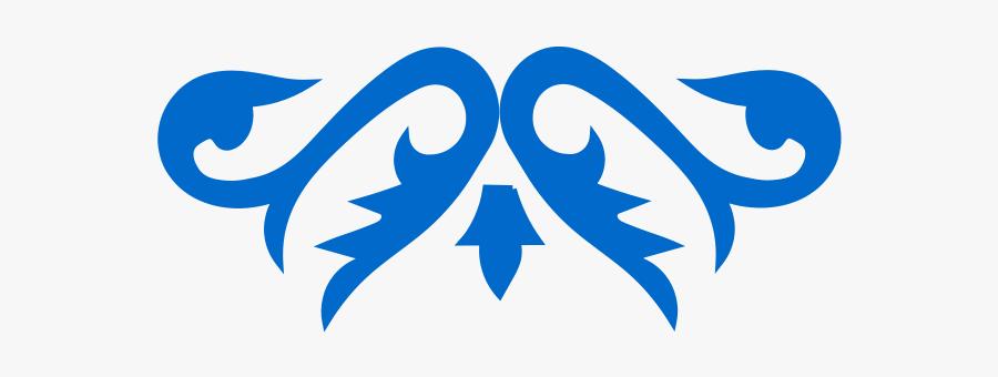 Art Nouveau Ornament Clipart, Vector Clip Art Online, - Ornaments Vector Azul Png, Transparent Clipart