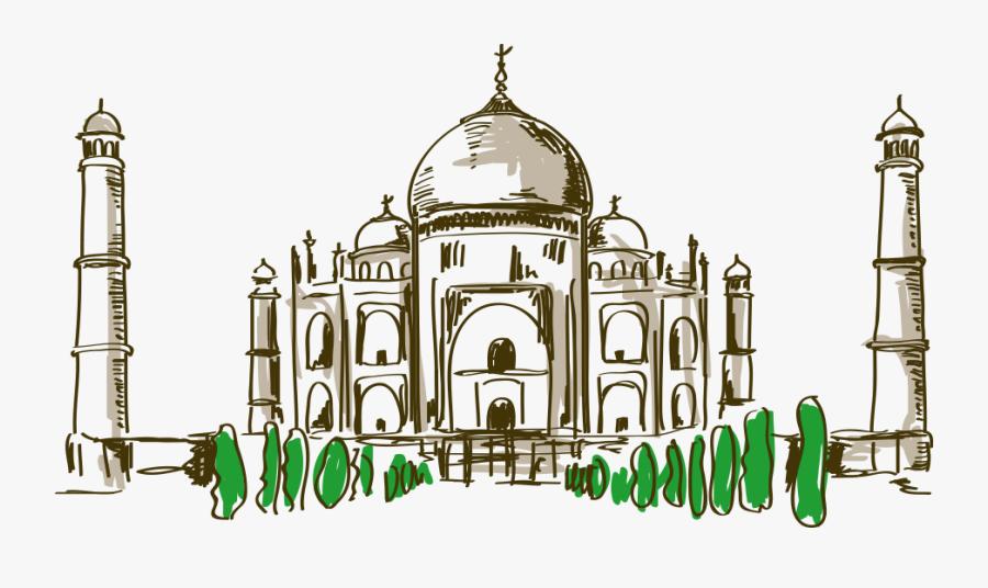 Cartoon Drawing At Getdrawings - Taj Mahal Animado Png, Transparent Clipart