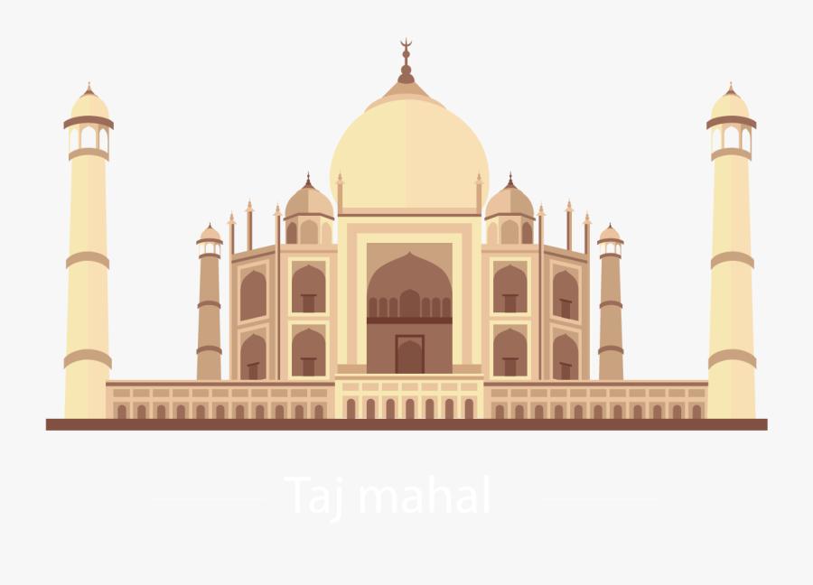 Taj Mahal Vector Png, Transparent Clipart