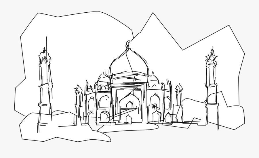 Taj Mahal Clip Art - Taj Mahal Cartoon, Transparent Clipart