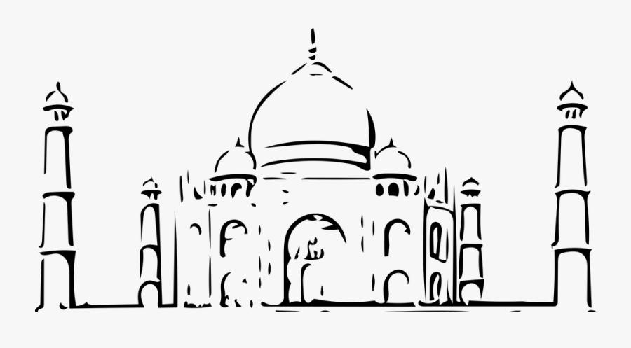 Taj Mahal Vector, Taj Mahal, Taj, Mahal, Agra, Up - Taj Mahal Vector Png, Transparent Clipart