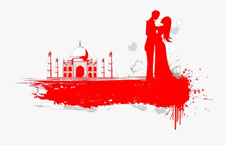 Taj Mahal - Taj Mahal Love Couple, Transparent Clipart
