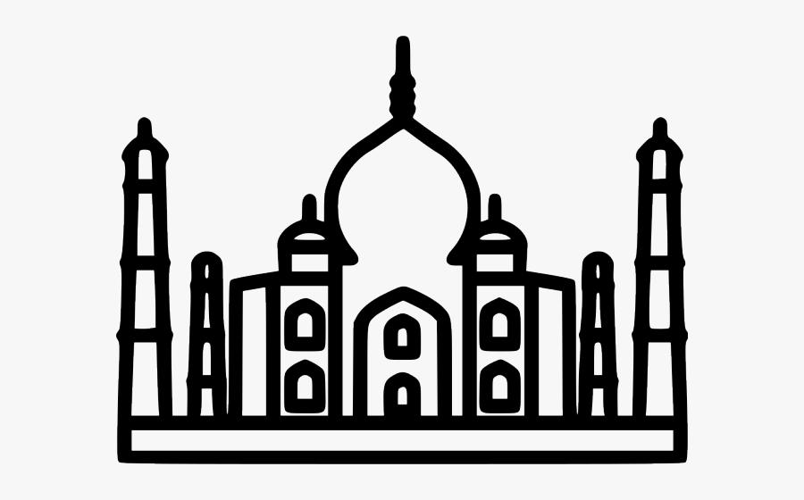 Taj Mahal Clipart Logo - Taj Mahal Outline Png, Transparent Clipart